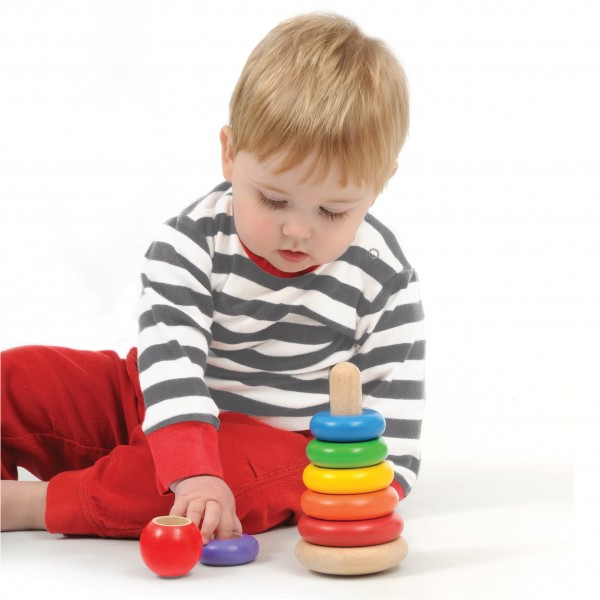 Stacking Toys For 12 Month Old : Ww new stacking rings wonderworldtoy natural toys