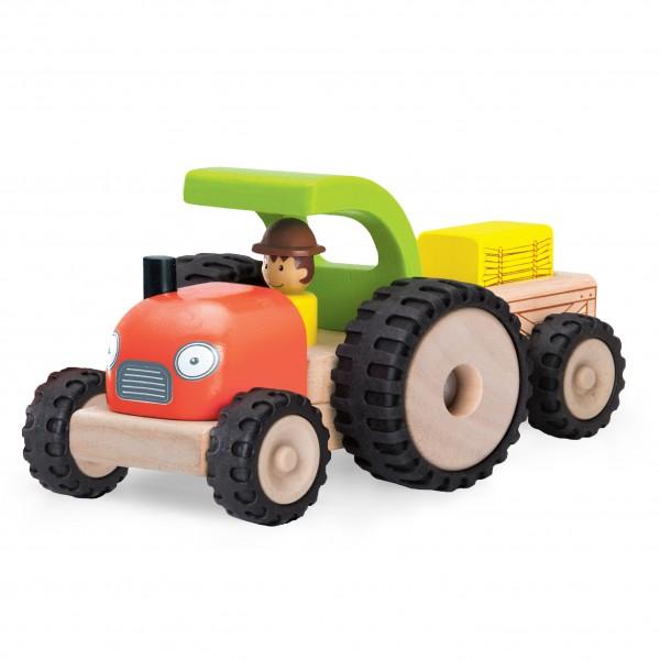 ww 4042 traktor mit h nger wonderworldtoy natural toys. Black Bedroom Furniture Sets. Home Design Ideas