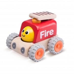 WW_4079-02_ Smiling Fire Engine _Miniworld_12 month_1 years old_wooden toys_gift toy_educational toy_quality_kid toy_made in Thailand_Wonderworld toy_eco-friendly_rubberwood